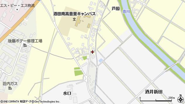 山形県酒田市豊里芦原103周辺の地図