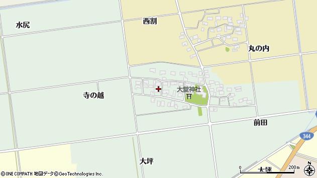 山形県酒田市鶴田寺の越18周辺の地図
