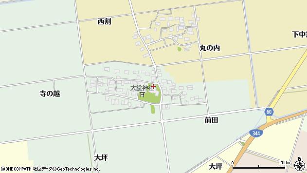 山形県酒田市鶴田寺の越2周辺の地図