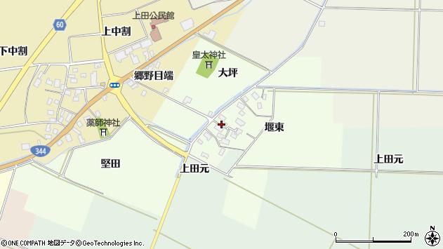 山形県酒田市上興野堰東周辺の地図