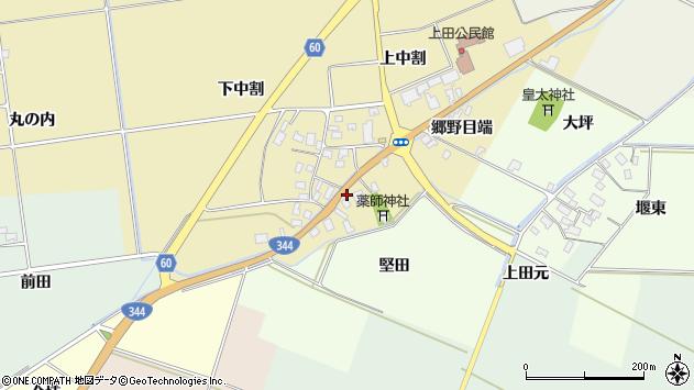 山形県酒田市上野曽根郷野目端74周辺の地図