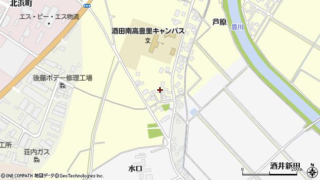 山形県酒田市豊里下西割51周辺の地図