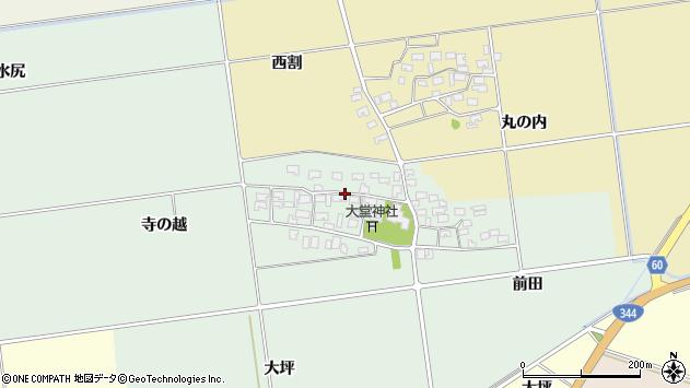 山形県酒田市鶴田寺の越11周辺の地図