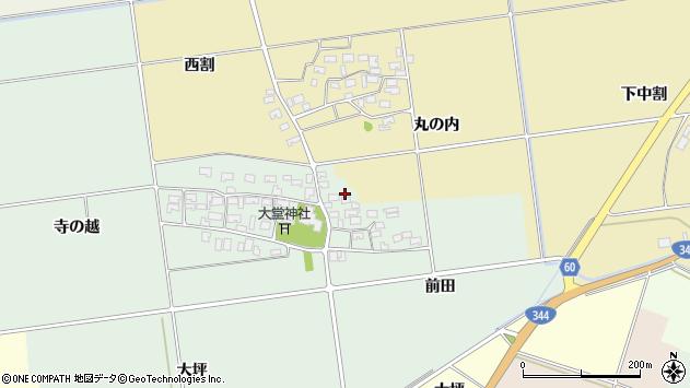山形県酒田市鶴田寺の越33周辺の地図