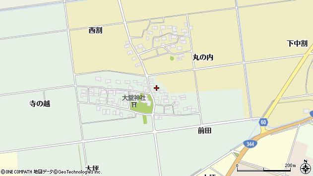 山形県酒田市鶴田寺の越31周辺の地図