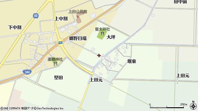 山形県酒田市上興野堅田周辺の地図