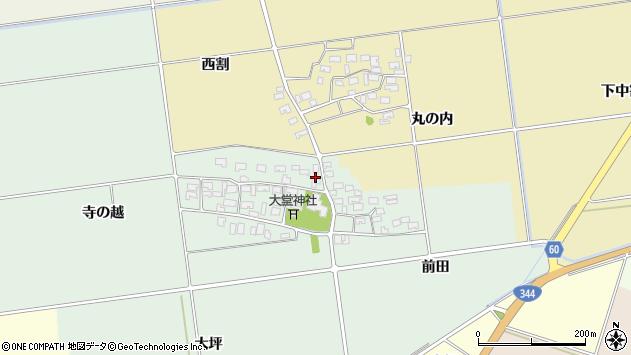 山形県酒田市鶴田寺の越30周辺の地図