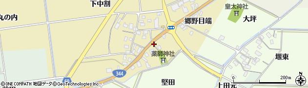 山形県酒田市上野曽根郷野目端66周辺の地図