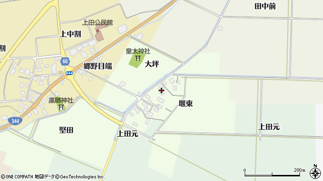山形県酒田市上興野堰東35周辺の地図