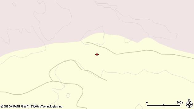 山形県酒田市北俣西沢周辺の地図