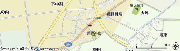 山形県酒田市上野曽根郷野目端63周辺の地図