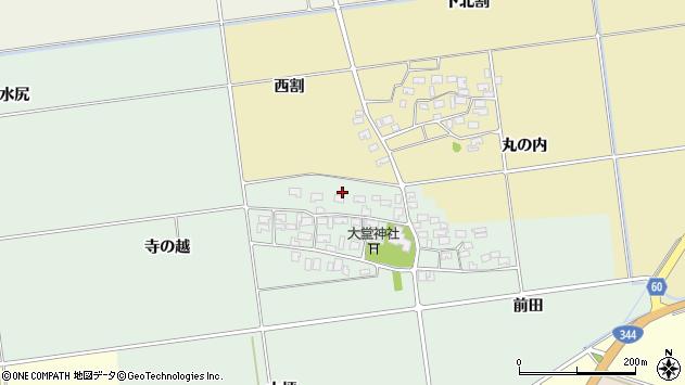 山形県酒田市鶴田寺の越26周辺の地図