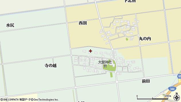 山形県酒田市鶴田寺の越25周辺の地図