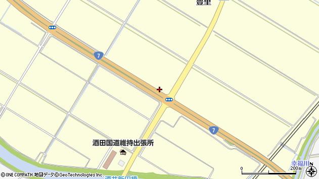 山形県酒田市豊里落脇周辺の地図