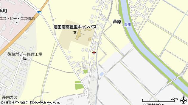 山形県酒田市豊里芦原80周辺の地図