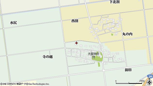 山形県酒田市鶴田寺の越24周辺の地図