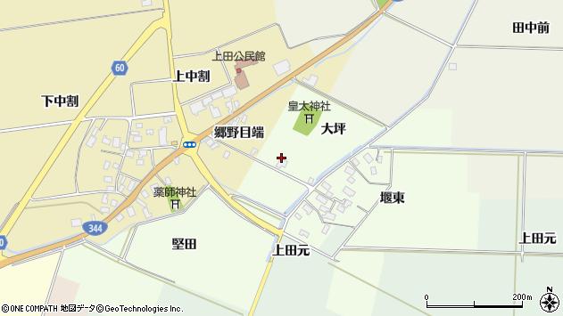 山形県酒田市上興野大坪28周辺の地図