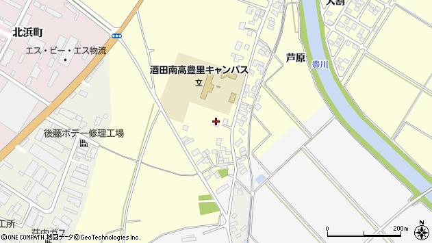 山形県酒田市豊里下西割46周辺の地図