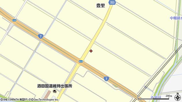 山形県酒田市豊里東野周辺の地図