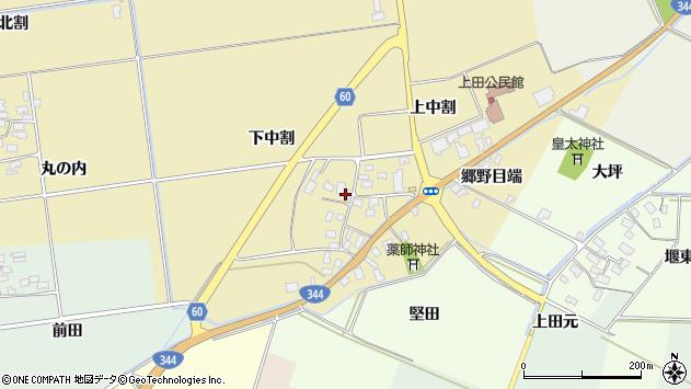 山形県酒田市上野曽根下中割14周辺の地図