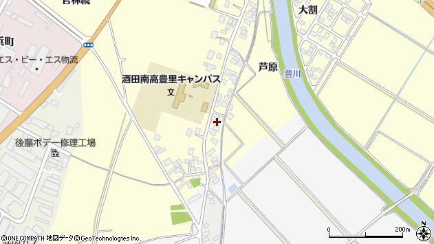山形県酒田市豊里芦原42周辺の地図