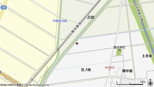 山形県酒田市吉田新田宮ノ西周辺の地図