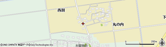 山形県酒田市上野曽根西割周辺の地図