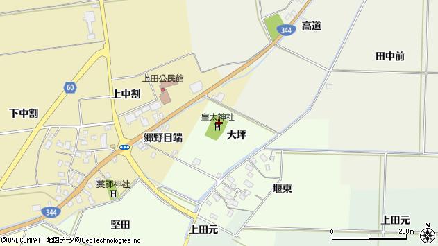 山形県酒田市上興野大坪周辺の地図