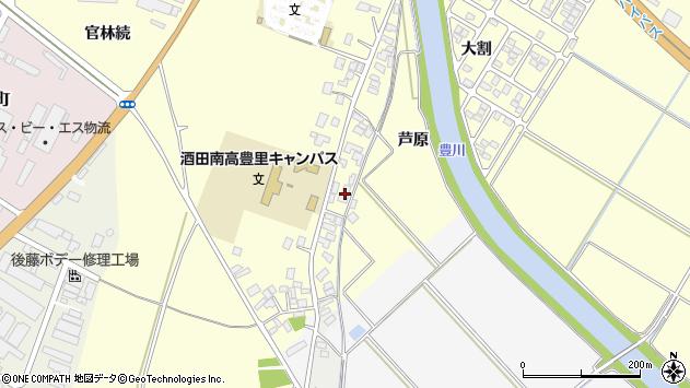 山形県酒田市豊里芦原46周辺の地図