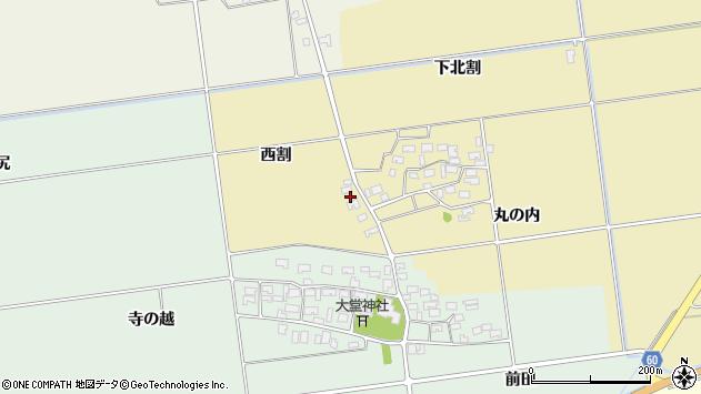 山形県酒田市上野曽根西割17周辺の地図