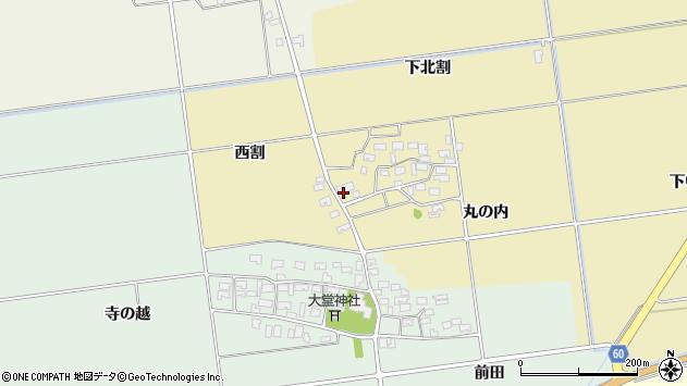 山形県酒田市上野曽根下北割142周辺の地図
