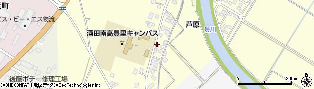 山形県酒田市豊里芦原44周辺の地図