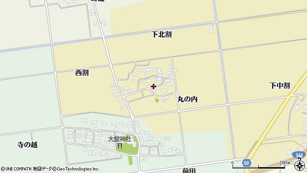山形県酒田市上野曽根下北割45周辺の地図