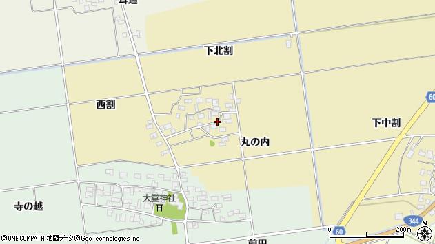 山形県酒田市上野曽根下北割102周辺の地図