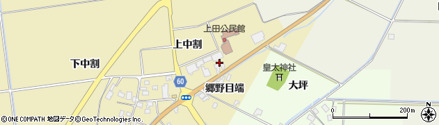 山形県酒田市上野曽根上中割29周辺の地図