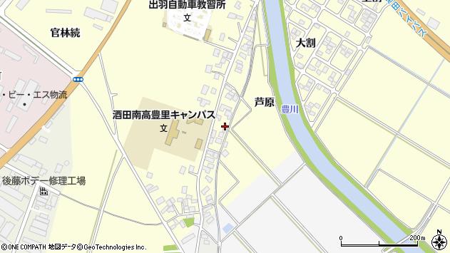山形県酒田市豊里芦原49周辺の地図