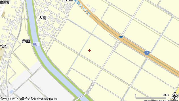 山形県酒田市豊里西割周辺の地図