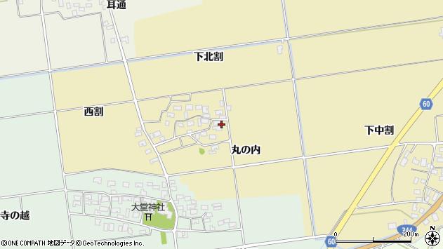 山形県酒田市上野曽根下北割89周辺の地図
