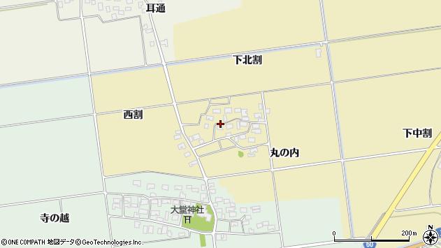 山形県酒田市上野曽根下北割113周辺の地図
