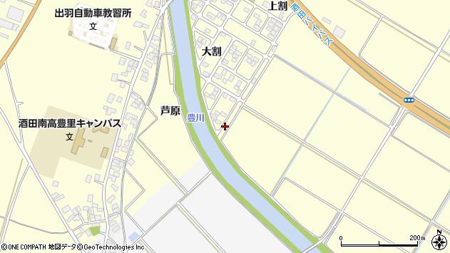 山形県酒田市豊里芦原109周辺の地図