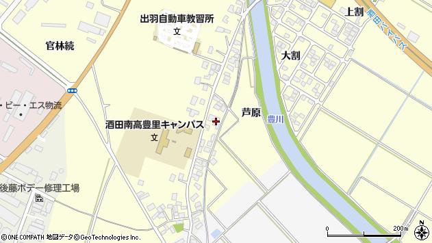 山形県酒田市豊里芦原48周辺の地図