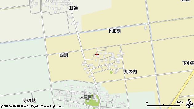 山形県酒田市上野曽根下北割28周辺の地図