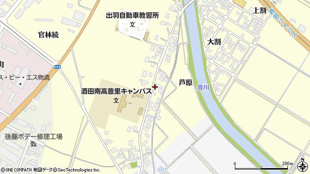 山形県酒田市豊里芦原76周辺の地図