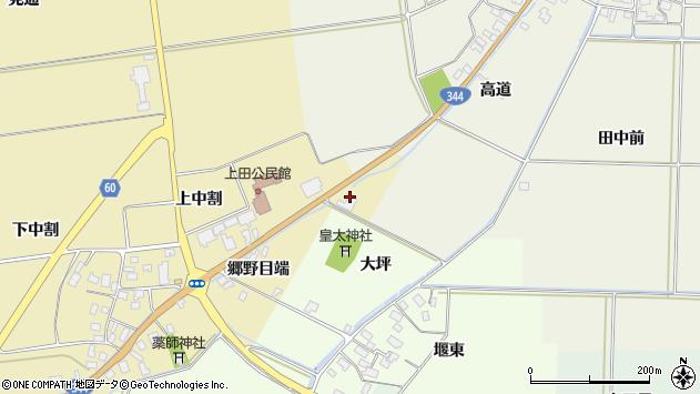 山形県酒田市上野曽根郷野目端1周辺の地図