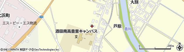 山形県酒田市豊里下西割37周辺の地図