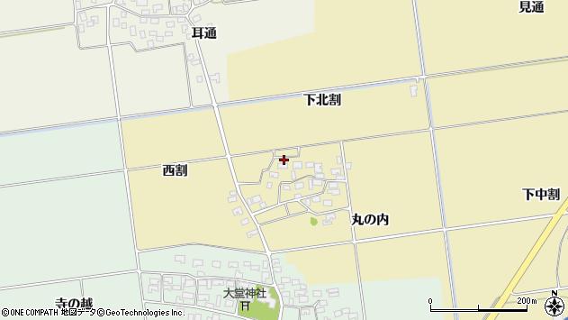 山形県酒田市上野曽根下北割112周辺の地図