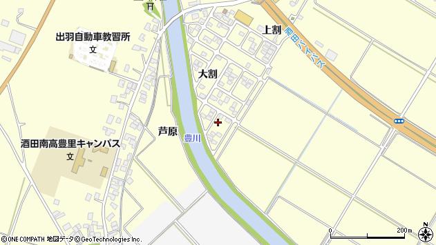 山形県酒田市豊里芦原88周辺の地図