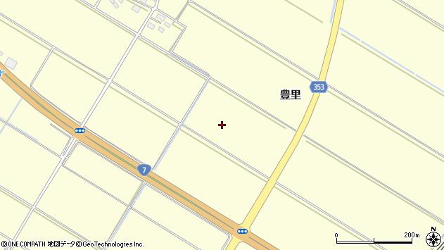 山形県酒田市豊里小沼周辺の地図