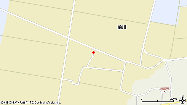 山形県酒田市前川前田28周辺の地図