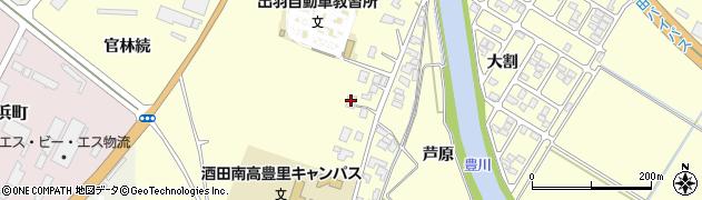 山形県酒田市豊里下西割30周辺の地図